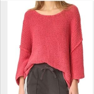 NWOT Free People Halo Dolman Pink Pullover Sweater